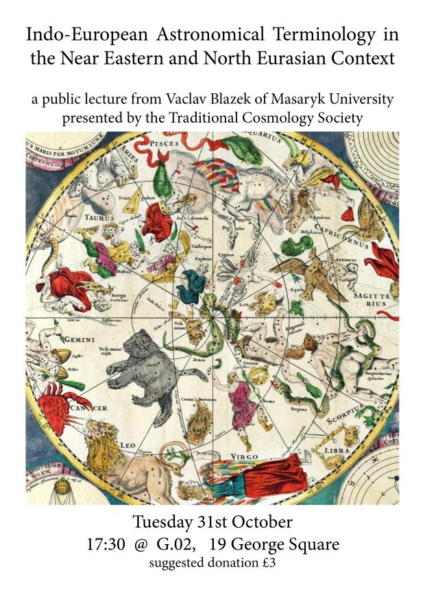 Vaclav Blazek lecture 31st October